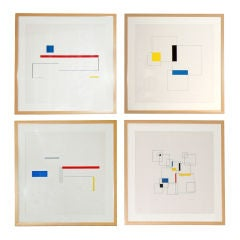 Werner Graeff Constructivist Screen Prints