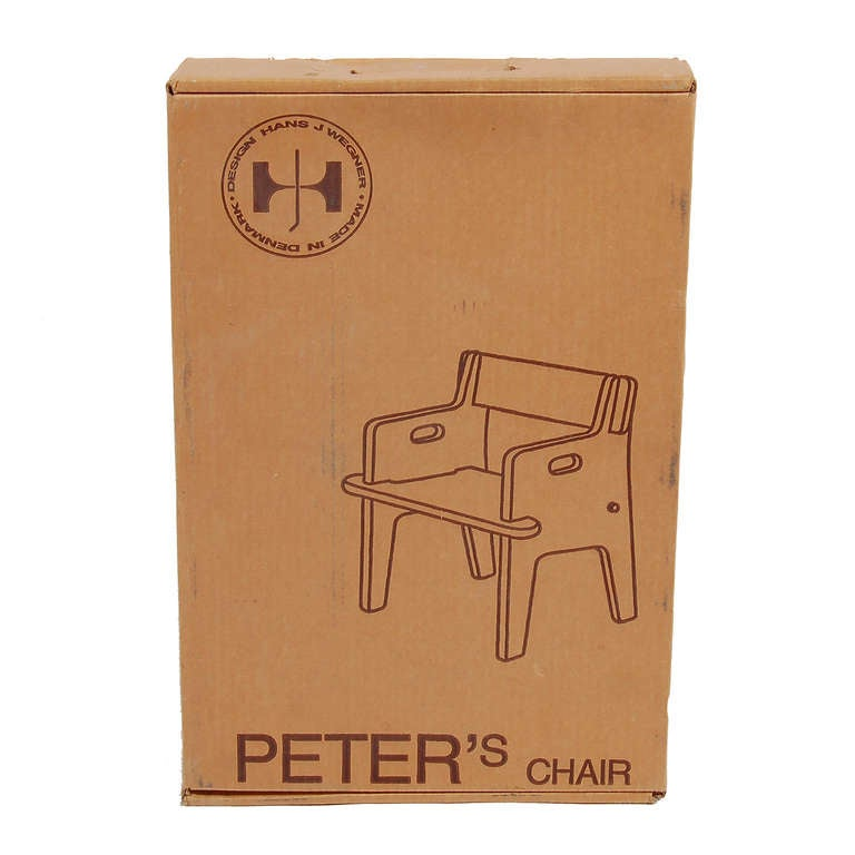 Original production of child's chair, never out of box. Made of