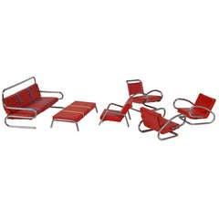 Original Set of Jindrich Halabala Bauhaus Miniature Furniture