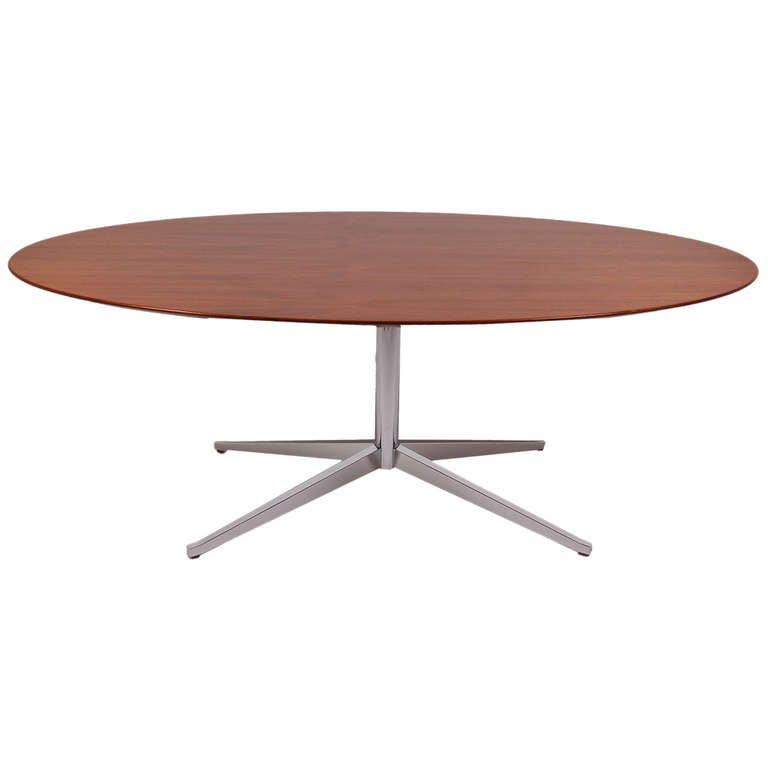 Florence Knoll Oval Dining Conference Table At 1stdibs