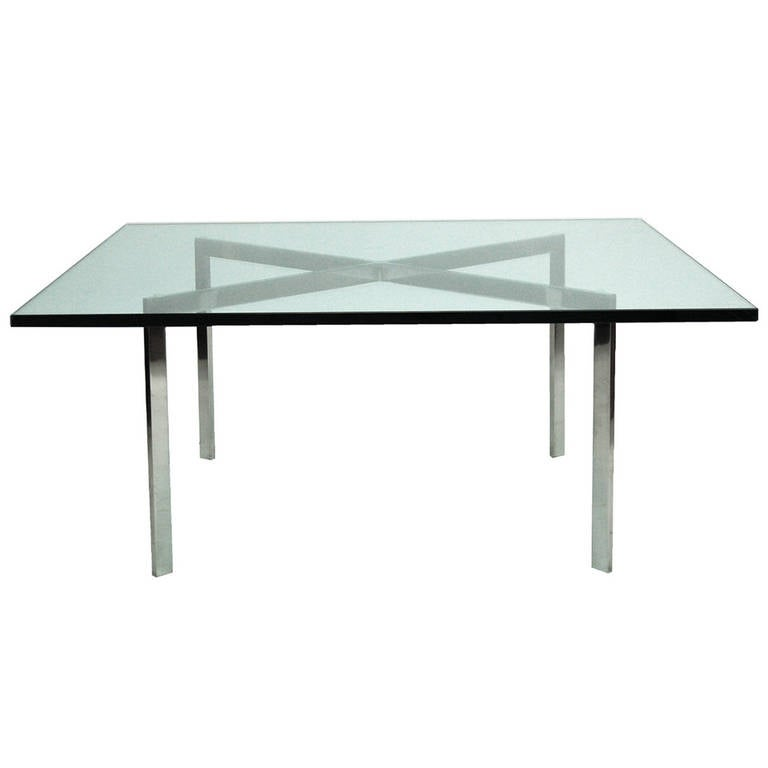 early barcelona table by mies van der rohe marked kp at. Black Bedroom Furniture Sets. Home Design Ideas