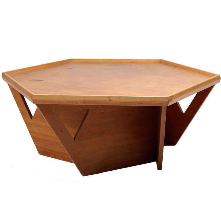 custom bruce goff coffee table at 1stdibs