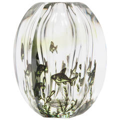 Six Sided Fish Graal Art Glass Vase by Edvin Ohrstrom