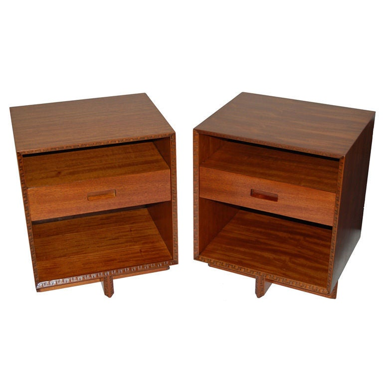 Frank Lloyd Wright Nightstands At 1stdibs