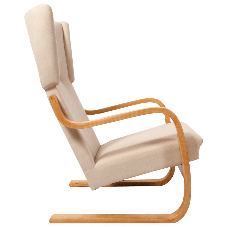 Early wing chair model 401 by alvar aalto for sale at 1stdibs for Alvar aalto chaise