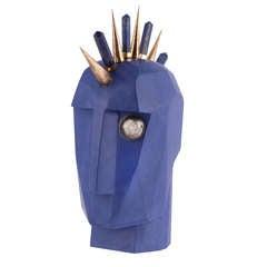 Head Trip Sculpture - INDIGO by Kelly Wearstler