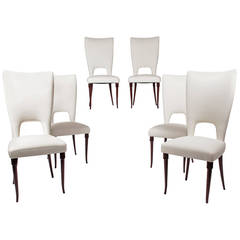 Set of Six Gallo Dining Chairs by Pier Luigi Colli