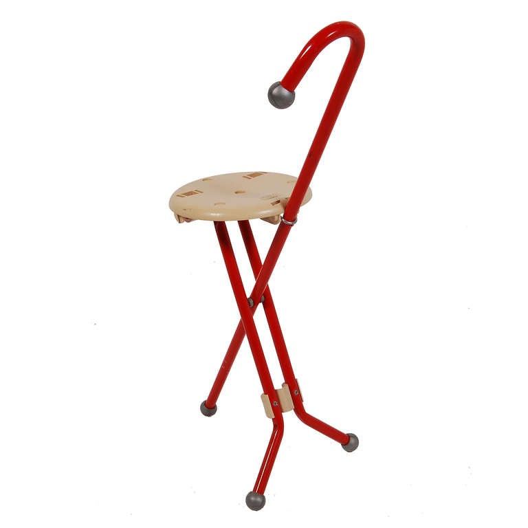 Ulisse Folding Chair Cane at 1stdibs