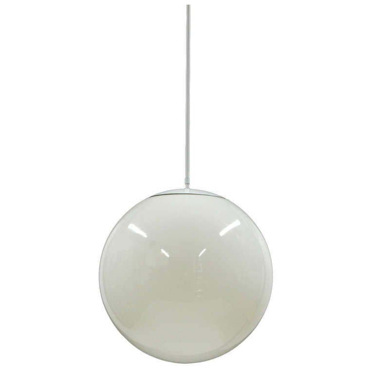 Large Glass Globe Pendant Lamp at 1stdibs