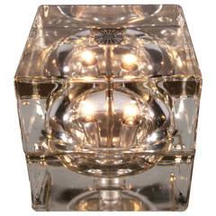 Pair Cubosfera Table Lamps by Alessandro Mendini