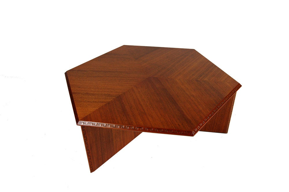 Frank Lloyd Wright Hexagonal Coffee Table 2
