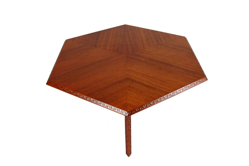 Frank Lloyd Wright Hexagonal Coffee Table 3