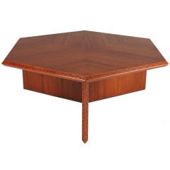 Frank Lloyd Wright Hexagonal Coffee Table