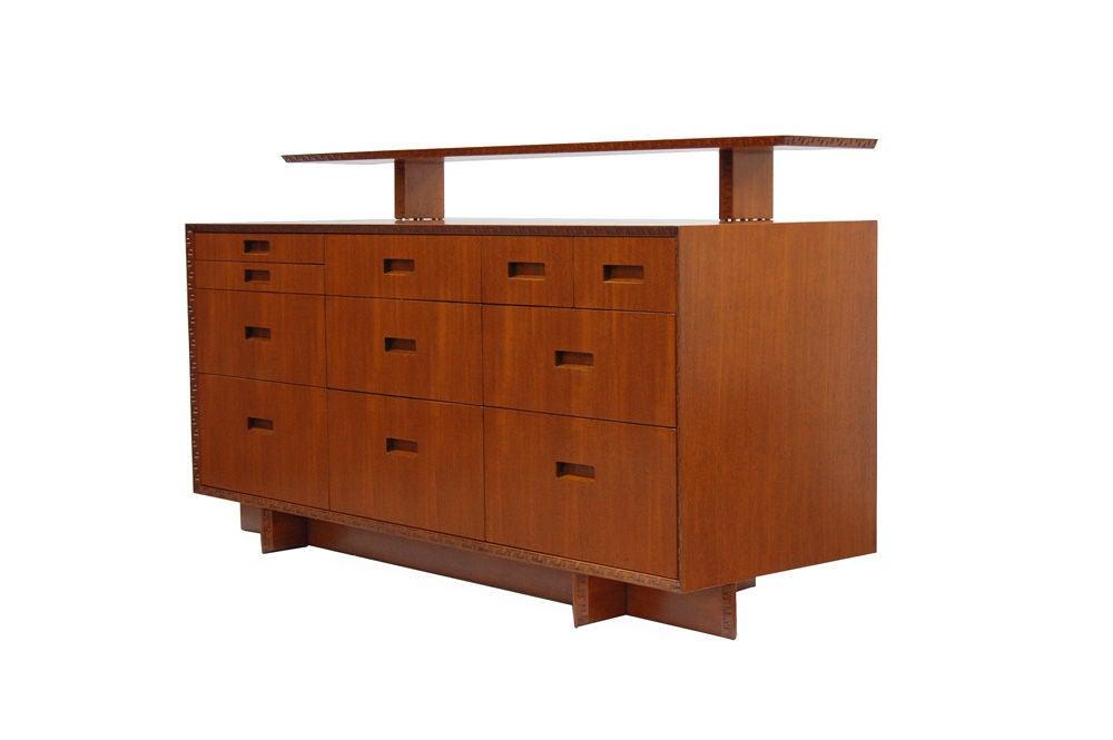 Frank Lloyd Wright Dresser With Shelf At 1stdibs