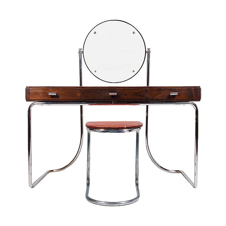 mart stam vanity and stool at 1stdibs. Black Bedroom Furniture Sets. Home Design Ideas