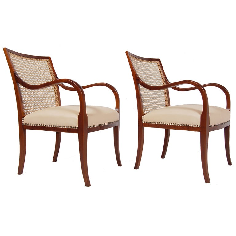 Pair Of Armchairs By Frits Henningsen At 1stdibs