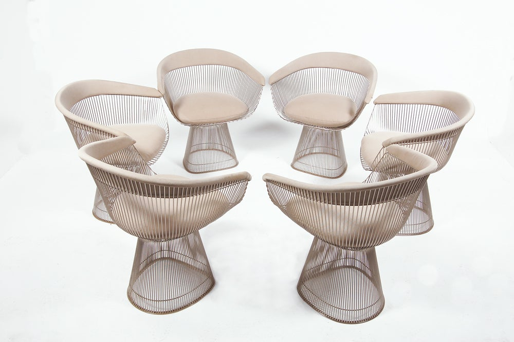 Set Of Six Warren Platner Dining Chairs At 1stdibs