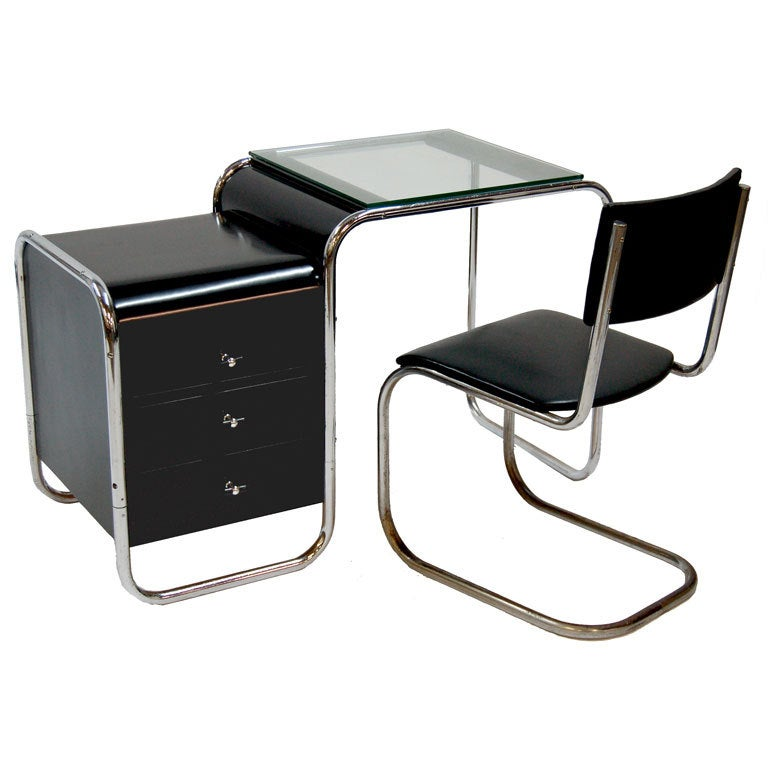 bauhaus desk and mart stam chair at 1stdibs. Black Bedroom Furniture Sets. Home Design Ideas