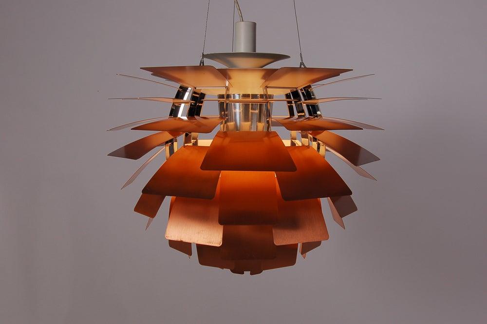copper artichoke lamp by poul henningsen at 1stdibs. Black Bedroom Furniture Sets. Home Design Ideas
