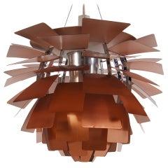 Copper Artichoke Lamp by Poul Henningsen