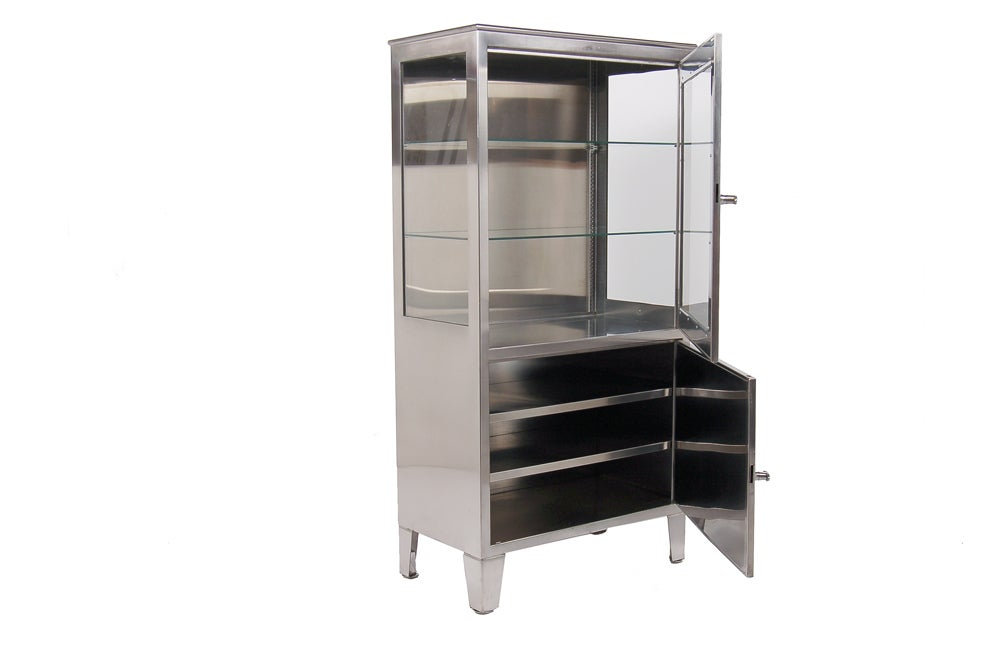 American Stainless Steel Medical Cabinet For Sale