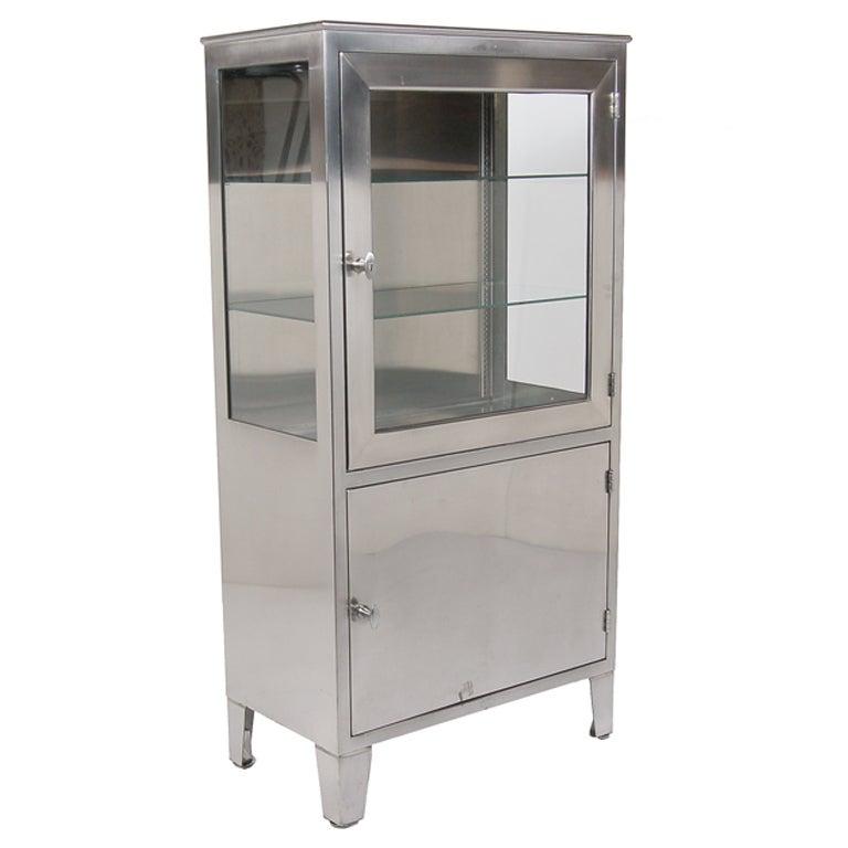 stainless steel medical cabinet at 1stdibs. Black Bedroom Furniture Sets. Home Design Ideas