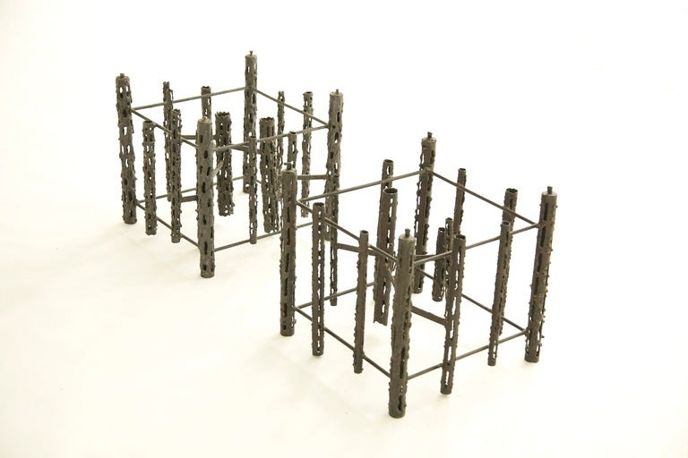 Welded Brutalist Coffee Table For Sale
