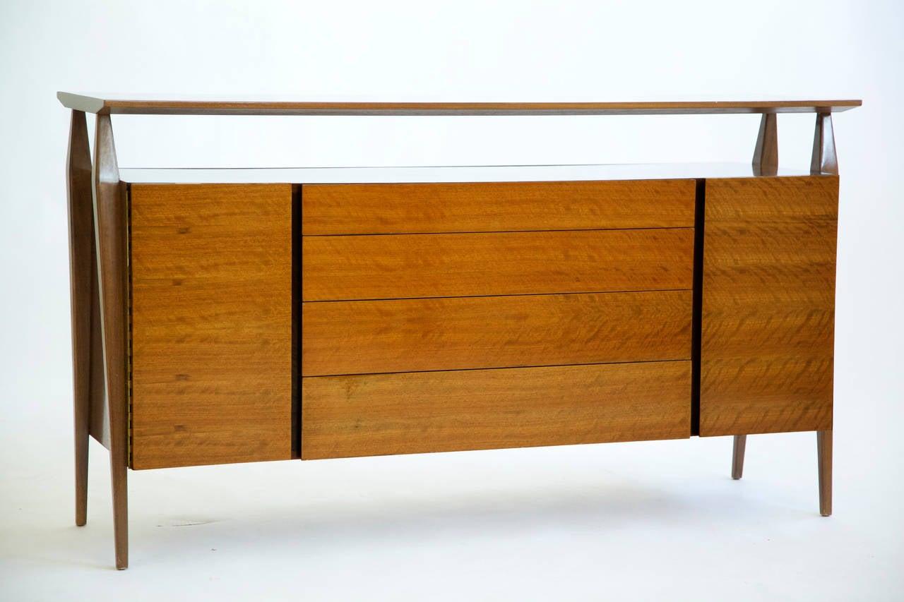 Mid-Century Modern Bertha Schaefer Cabinet in Italian Walnut For Sale
