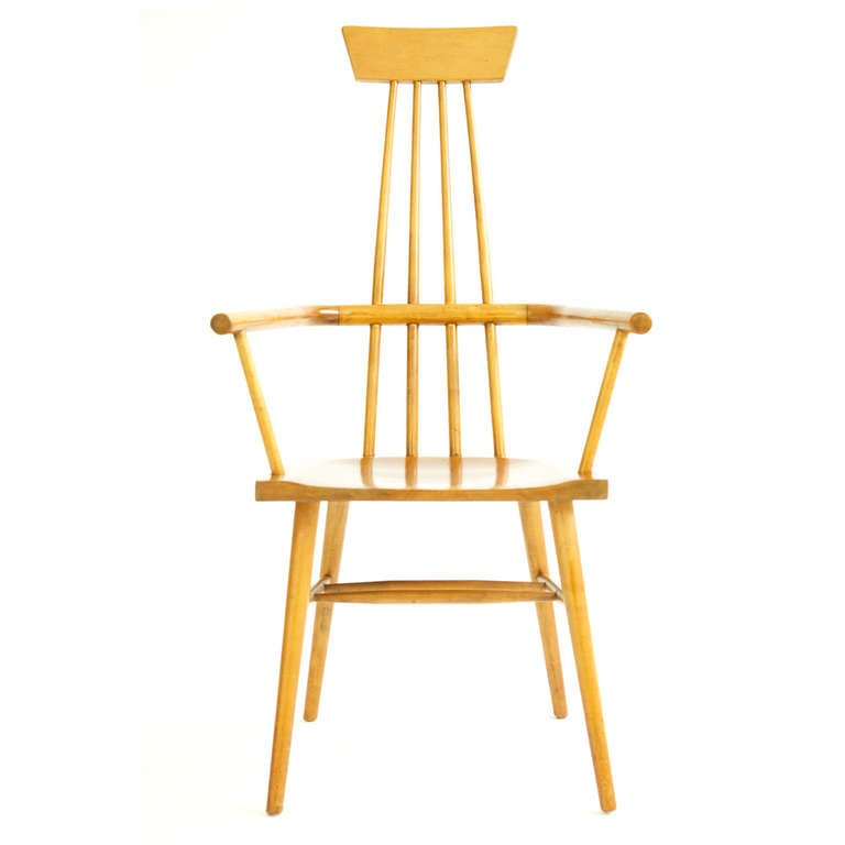 Paul McCobb High Back Windsor Chair For Sale at 1stdibs