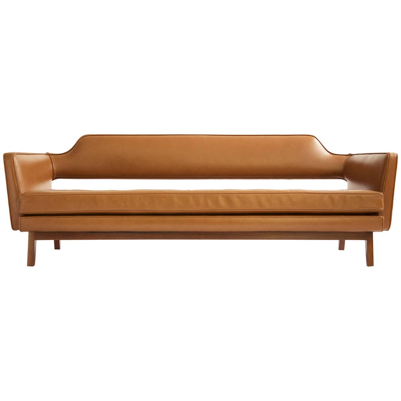 Edward wormley open back sofa at 1stdibs for Settee without back