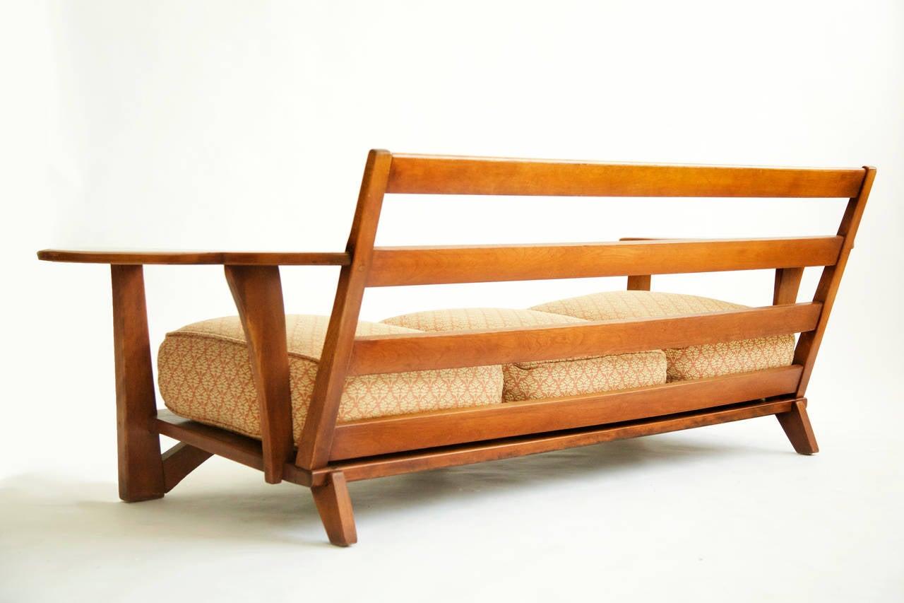 Cushman Paddle Arm Three Seat Sofa 3