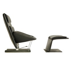 Vittorio Introini Lounge Chair and Ottoman