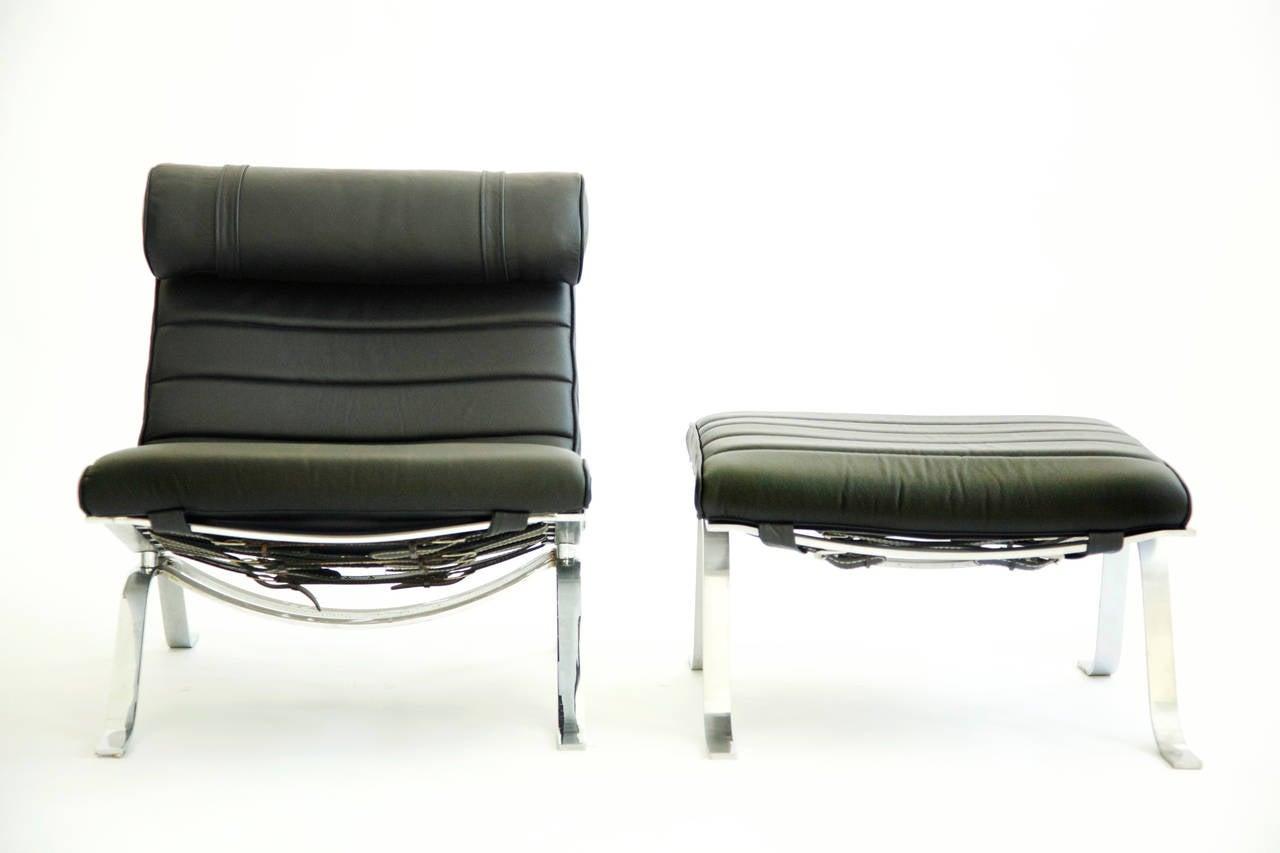 """""""Ari"""" Lounge Chair and Ottoman at 1stdibs"""