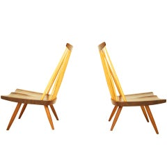 Pair of George Nakashima Lounge Chairs