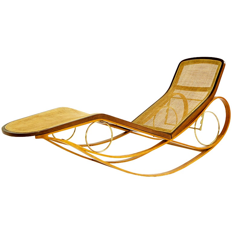 edward wormley prototype rocking chaise for sale at 1stdibs. Black Bedroom Furniture Sets. Home Design Ideas