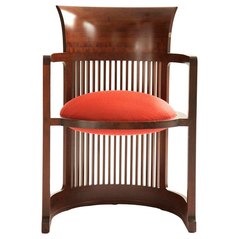 Frank Lloyd Wright Barrel Chair At 1stdibs