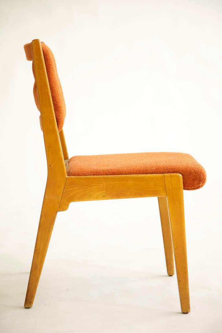 Set of jens risom dining chairs for sale at 1stdibs - Jens risom dining chairs ...