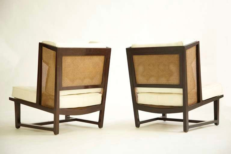 American Pair of Dunbar Wingback Lounge Chairs