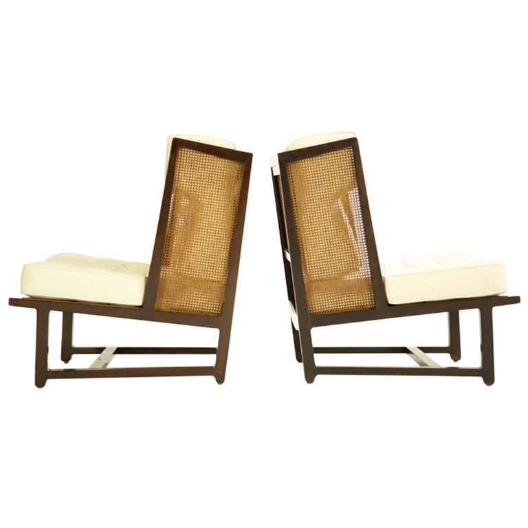 Pair of Dunbar Wingback Lounge Chairs