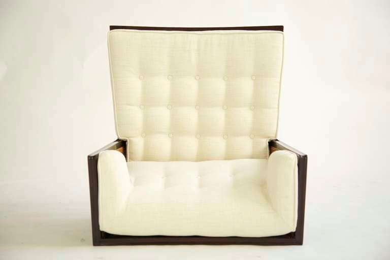 Pair of Dunbar Wingback Lounge Chairs In Excellent Condition In Chicago, IL