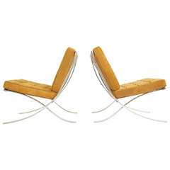 Mies van der Rohe Pair of Barcelona Chairs