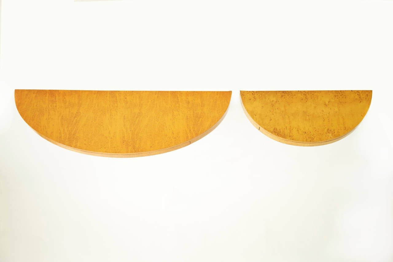 Veneer Floating Demilune by Edward Wormley for Dunbar For Sale
