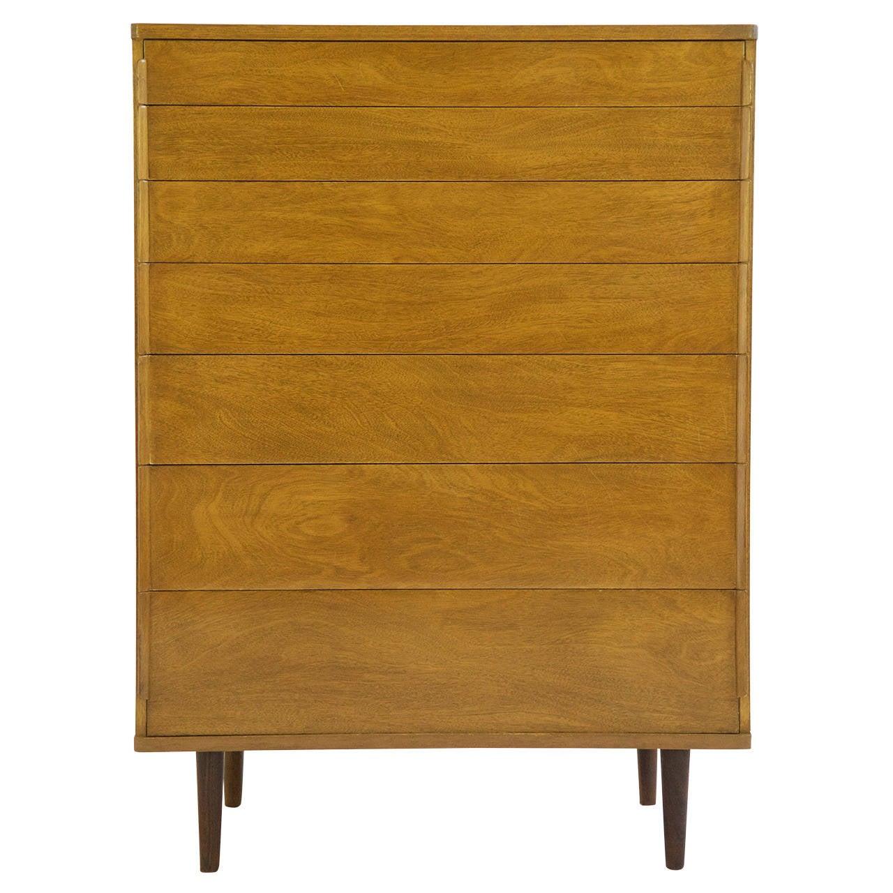 Edward Wormley Seven Drawer Dresser For Sale