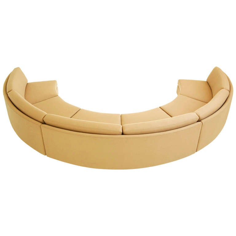 Curved Sectional Sofa by Milo Baughman at 1stdibs
