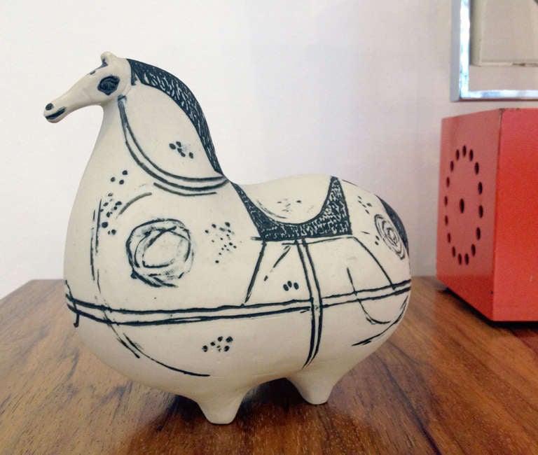 Mid-Century Modern Stig Lindberg Ceramic Horse For Sale