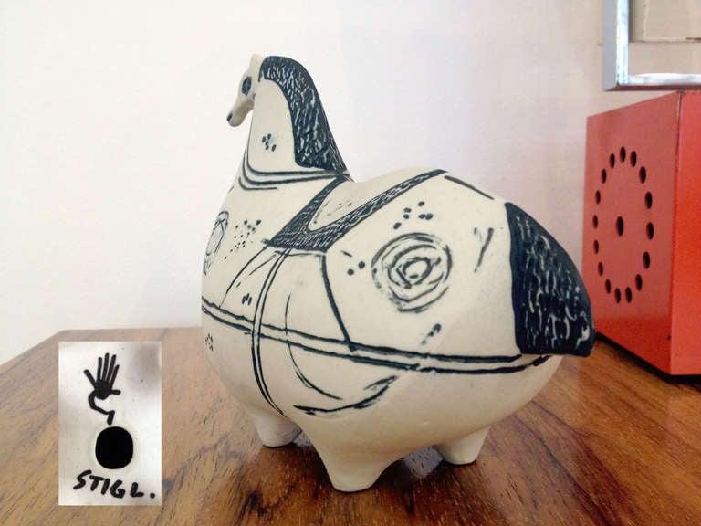Swedish Stig Lindberg Ceramic Horse For Sale