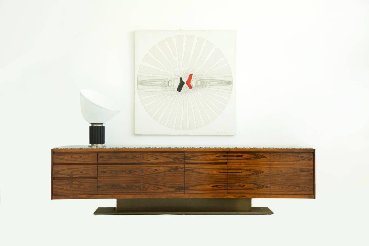 Mid-Century Modern Warren Platner Rosewood Credenza For Sale