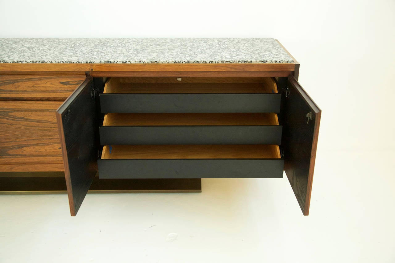 Warren Platner Rosewood Credenza In Excellent Condition For Sale In Chicago, IL