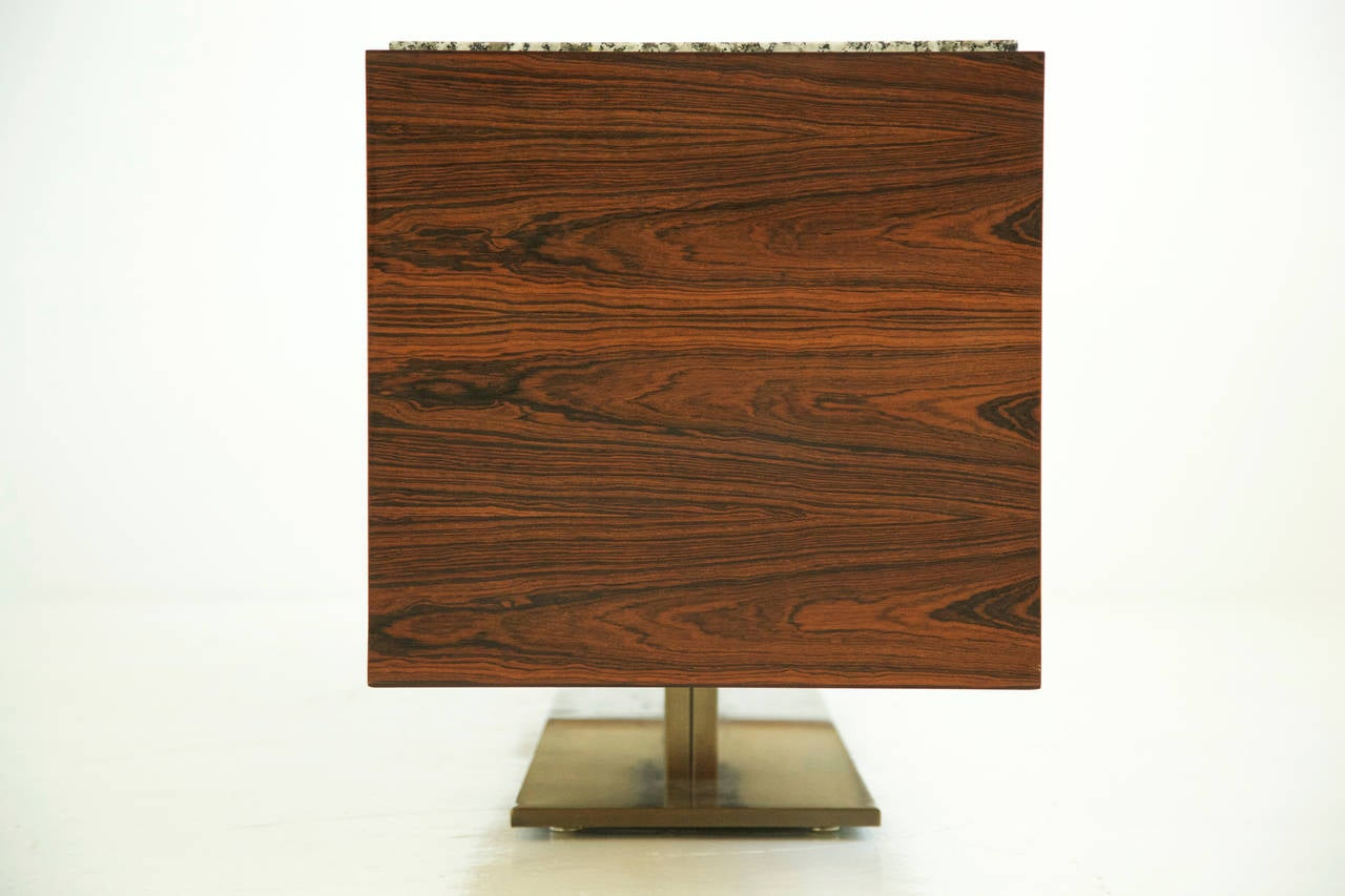 Late 20th Century Warren Platner Rosewood Credenza For Sale