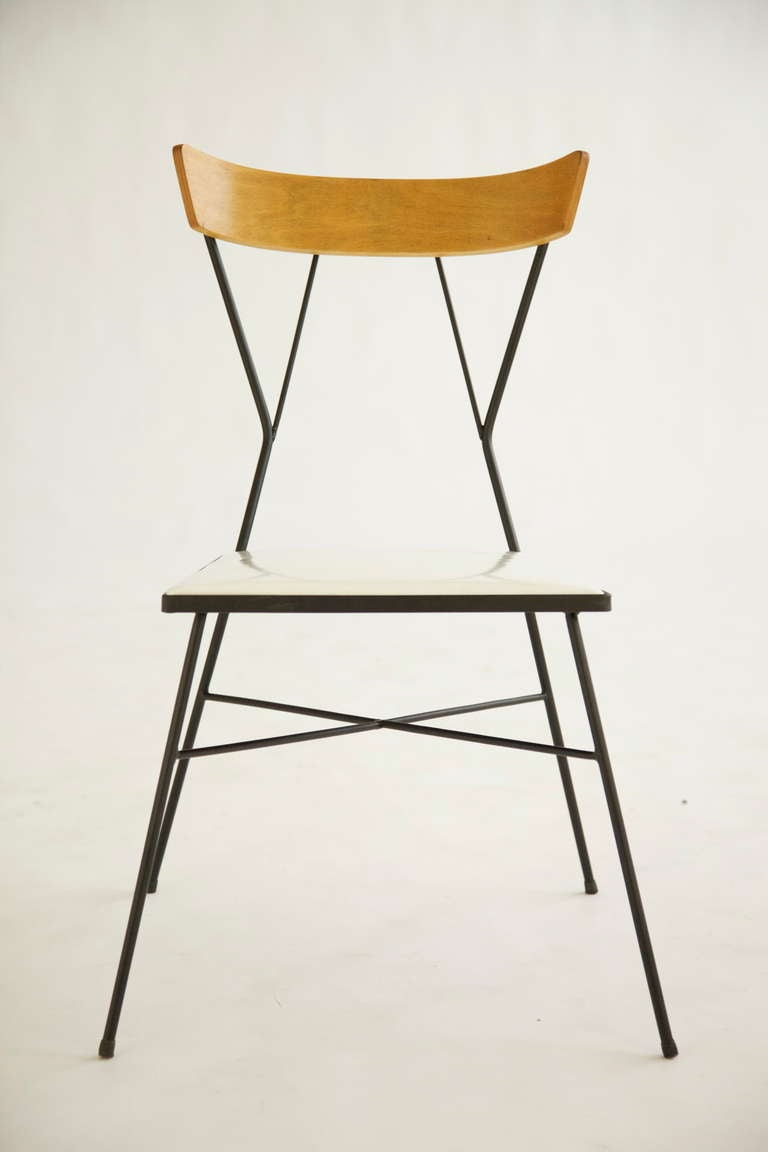 Set of 4 Wrought Iron chairs by Paul McCobb at 1stdibs